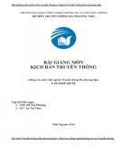 Bài giảng Kịch bản truyền thông: Phần 2 - ThS. Đỗ Thị Phượng, Tạ Thị Thảo