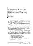 Một số nguyên tắc giao tiếp của cán bộ giao dịch trong kinh doanh ngân hàng - Phạm Thị Tuyết