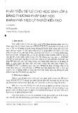 Phát triển trí tuệ cho học sinh lớp 5 bằng phương pháp dạy học khám phá theo lý thuyết kiến tạo - Vũ Thị Lan Anh