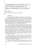Về mối quan hệ giữa động cơ và nhu cầu bồi dưỡng nghiệp vụ quản lý nhà nước của cán bộ xã - Nguyễn Thị Tuyết Mai