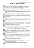 Bài tập Phân tử chọn lọc - Sinh học 12 (Có đáp án)