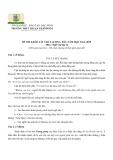 Đề khảo sát chất lượng đầu năm có đáp án môn: Ngữ văn 12 - Trường THPT Thuận Thành số 1 (Năm học 2014-2015)