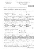 Đề kiểm tra học kỳ 1 có đáp án môn: Vật lý 12 - Hệ trung học phổ thông (Năm học 2012-2013)