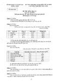 Đề thi chọn học sinh giỏi lớp 12 THPT cấp tỉnh Đồng Tháp môn: Địa lý (Năm học 2012-2013)