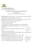 Đề khảo sát chất lượng đầu năm có đáp án môn: Vật lý 12 - Trường THPT Thuận Thành số 1 (Năm học 2014-2015)