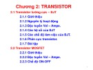 Bài giảng Kỹ thuật điện: Chương 2 - Transistor