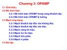 Bài giảng Kỹ thuật điện: Chương 3 - Opamp