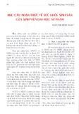 Nhu cầu nhận thức về sức khỏe sinh sản của sinh viên đại học Sư Phạm - Trần Thị Minh Ngọc