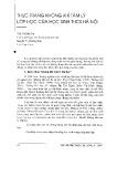 Thực trạng không khí tâm lý lớp học của học sinh THCS Hà Nội - Trần Thị Bích Trà