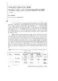 Thái độ của học sinh trong việc lựa chọn nghề nghiệp - Phạm Mạnh Hà