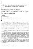 Nghiên cứu tâm lý trẻ em có bố mẹ ly hôn bằng trắc nghiệm trẻ em gia đình - Nguyễn Thị Minh Hằng