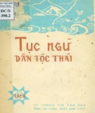Dân tộc Thái và văn hóa tục ngữ (Tập 2): Phần 1