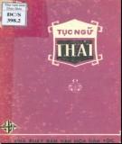 Ebook Tục ngữ Thái: Phần 1