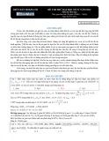 Đề thi thử đại học số 4 có đáp án năm 2012 môn: Hoá học - Mã đề thi BMD 2012