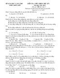 Đề kiểm tra chất lượng học kỳ 1 có đáp án môn thi: Vật lý 12 - Đề số 4 (Năm học 2015-2016)