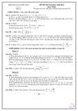 Đề thi thử đại học có đáp án năm 2012 môn: Toán - Đề số 01
