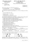 Đề kiểm tra chất lượng học kỳ 1 môn thi: Vật lý 12 - Mã đề thi 132 (Năm học 2015-2016)
