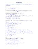 Lời giải đề thi thử số 2, năm 2012 môn: Toán
