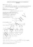 Hướng dẫn giải đề thi thử đại học số 14 môn: Toán