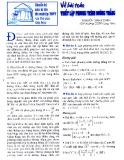 Chuyên đề về bài toán thiết lập phương trình đường thẳng - Nguyễn Thanh Cảnh