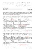 Đề kiểm tra chất lượng học kỳ 1 môn thi: Vật lý 12 - Mã đề thi 209 (Năm học 2015-2016)