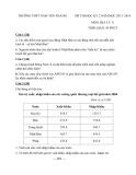 Đề thi học kỳ 2 có đáp án môn: Địa lý 11 - Trường THPT Nam Yên Thành (Năm học 2013-2014)