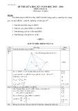 Đề thi giữa học kỳ 1 có đáp án môn: Toán 12 - Trường THPT Thống Nhất A (Năm học 2015-2016)