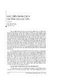 Đặc điểm nhân cách và trình độ học vấn - Phan Thị Mai Hương