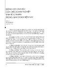 Động cơ làm việc của chủ doanh nghiệp kinh tế tư nhân trong giai đoạn hiện nay - Văn Thị Kim Cúc