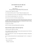 Đề thi kiểm tra giữa học kì 1 môn: Ngữ văn 8