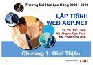 Bài giảng Lập trình Web ASP.NET: Chương 1 - ĐH Lạc Hồng