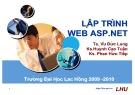 Bài giảng Lập trình ASP.NET - ĐH Lạc Hồng