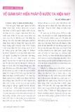 Về giám sát hiến pháp ở nước ta hiện nay - TS. Vũ Hồng Anh