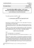 Tiêu chuẩn bảo vệ thực vật: Tiêu chuẩn Việt Nam TCVN 5138-90