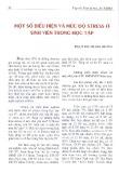 Một số biểu hiện và mức độ stress ở sinh viên trong học tập - Phạm Thị Thanh Hương