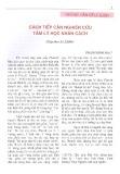 Cách tiếp cận nghiên cứu tâm lý học nhân cách - Phạm Minh Hạc