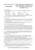 Đề thi chọn học sinh giỏi cấp huyện Yên Lạc lớp 9 THSC có đáp án môn: Hóa học - Vòng 1 (Năm học 2014-2015)