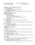 Đề cương ôn tập học kỳ 1 môn: Sinh học - Lớp 9