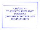 Bài giảng Quản trị Logistics: Chương 6 - TS. Hà Minh Hiếu