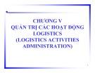Bài giảng Quản trị Logistics: Chương 5 - TS. Hà Minh Hiếu