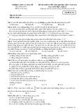 Đề thi thử tuyển sinh đại học lần 3 năm 2013 môn: Sinh học, khối B - Trường THPT Lý Thái Tổ (Mã đề thi 132)