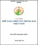 Giáo trình Thể loại thơ văn trung đại Việt Nam: Phần 1