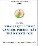 Giáo trình Khái lược lịch sử văn học phương Tây thế kỷ XVII - XIX: Phần 1