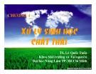Bài giảng Công nghệ sinh học môi trường - Chương 4: Xử lý sinh học chất thải