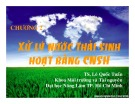 Bài giảng Công nghệ sinh học môi trường - Chương 2: Xử lý nước thải sinh học bằng công nghệ sinh học