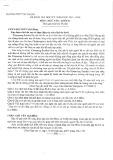 Đề kiểm tra học kỳ 1 môn Ngữ văn 11 Năm 2015-2016 - Trường THPT Tây Thạnh