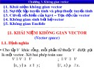 Bài giảng Toán cao cấp 1 - Chương 3: Không gian vector