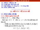 Bài giảng Toán cao cấp - Chương A: Hàm số một biến số