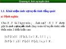 Bài giảng Toán cao cấp 1 - Chương 4: Ánh xạ tuyến tính