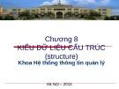 Bài giảng Cơ sở lập trình 1: Chương 8 - Lê Quý Tài